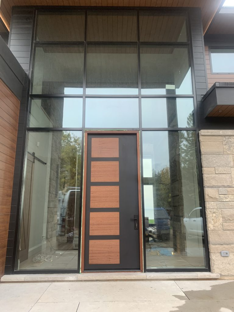 Brookside aluminum clad door